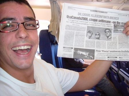Tinto (Andrea) con l'articolo del Corriere Del Alpi