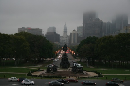 Philadelphia vista dal Museum of Art