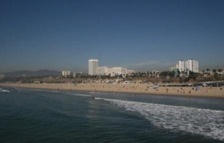 la spiaggia di Santa Monica