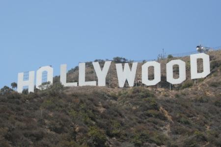 La famosa scritta sulle colline di Hollywood