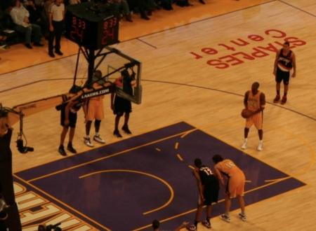 Kobe Bryant alla lunetta dei liberi