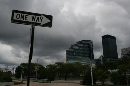 One way... Cleveland