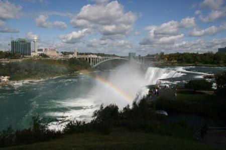 Cascate del Niagara viste da Cave of the Winds