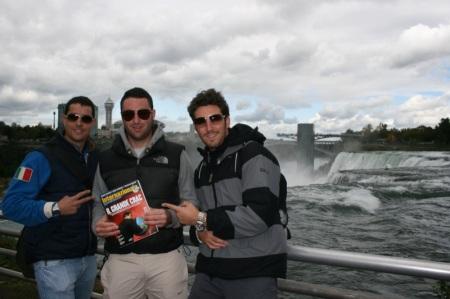 Ric, Tinto e Sir sopra le Cascate del Niagara