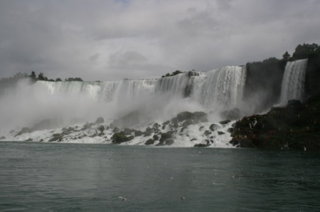 Le American Falls viste dal battello
