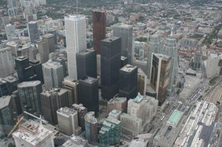 Il centro di Toronto visto dalla CN Tower