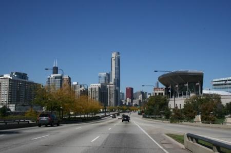 entrando a Chicago