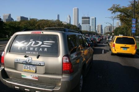 immersi nel traffico di Chicago