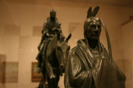 statua di indiano d america