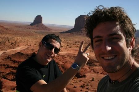 Tinto e Sir sulla Monument Valley