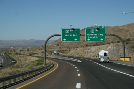 I primi cartelli in cui compare Las Vegas