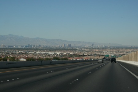 Las Vegas in lontananza