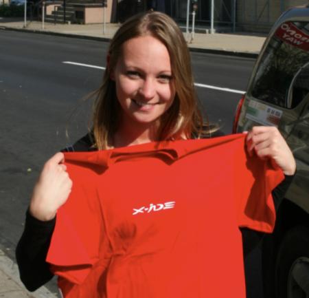 Pittsburg's girl with X-ide tshirt