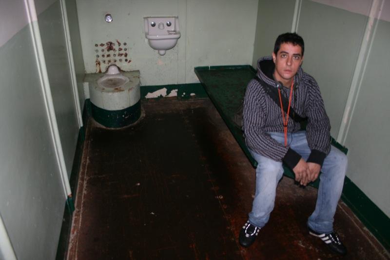 Tinto in una cella di Alcatraz