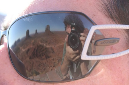 Monument Valley on the mirror